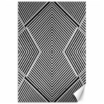 Black And White Line Abstract Canvas 24  x 36  36 x24 Canvas - 1