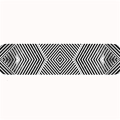 Black And White Line Abstract Large Bar Mats by Simbadda