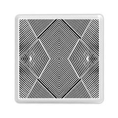 Black And White Line Abstract Memory Card Reader (square)  by Simbadda