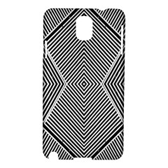 Black And White Line Abstract Samsung Galaxy Note 3 N9005 Hardshell Case by Simbadda
