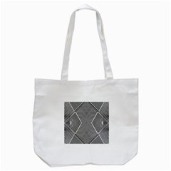 Black And White Line Abstract Tote Bag (white) by Simbadda