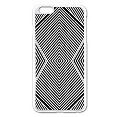 Black And White Line Abstract Apple Iphone 6 Plus/6s Plus Enamel White Case by Simbadda