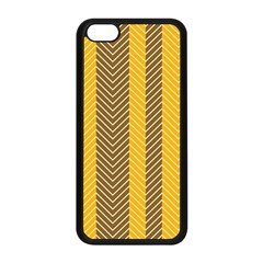 Brown And Orange Herringbone Pattern Wallpaper Background Apple Iphone 5c Seamless Case (black) by Simbadda