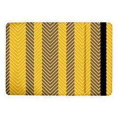 Brown And Orange Herringbone Pattern Wallpaper Background Samsung Galaxy Tab Pro 10 1  Flip Case by Simbadda