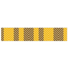 Brown And Orange Herringbone Pattern Wallpaper Background Flano Scarf (Small)