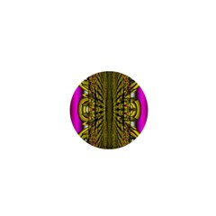 Fractal In Purple And Gold 1  Mini Magnets by Simbadda