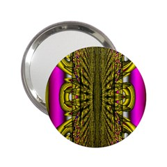 Fractal In Purple And Gold 2 25  Handbag Mirrors by Simbadda