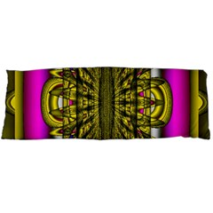 Fractal In Purple And Gold Body Pillow Case (dakimakura) by Simbadda