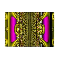Fractal In Purple And Gold Apple Ipad Mini Flip Case by Simbadda