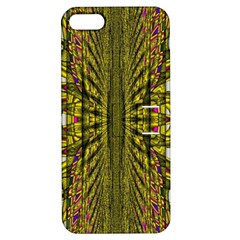 Fractal In Purple And Gold Apple Iphone 5 Hardshell Case With Stand by Simbadda
