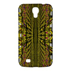 Fractal In Purple And Gold Samsung Galaxy Mega 6 3  I9200 Hardshell Case by Simbadda