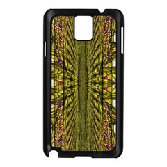 Fractal In Purple And Gold Samsung Galaxy Note 3 N9005 Case (black) by Simbadda