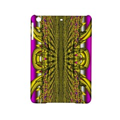 Fractal In Purple And Gold Ipad Mini 2 Hardshell Cases by Simbadda