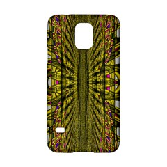 Fractal In Purple And Gold Samsung Galaxy S5 Hardshell Case  by Simbadda