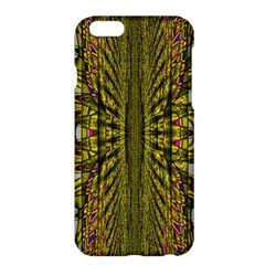 Fractal In Purple And Gold Apple iPhone 6 Plus/6S Plus Hardshell Case