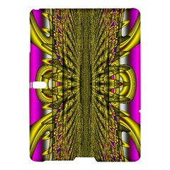 Fractal In Purple And Gold Samsung Galaxy Tab S (10 5 ) Hardshell Case  by Simbadda