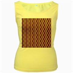 Gold Abstract Wallpaper Background Women s Yellow Tank Top