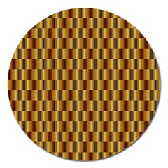 Gold Abstract Wallpaper Background Magnet 5  (round) by Simbadda