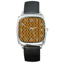 Gold Abstract Wallpaper Background Square Metal Watch by Simbadda