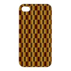 Gold Abstract Wallpaper Background Apple Iphone 4/4s Hardshell Case by Simbadda