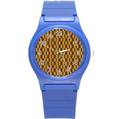 Gold Abstract Wallpaper Background Round Plastic Sport Watch (s) by Simbadda