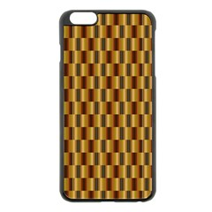 Gold Abstract Wallpaper Background Apple Iphone 6 Plus/6s Plus Black Enamel Case by Simbadda
