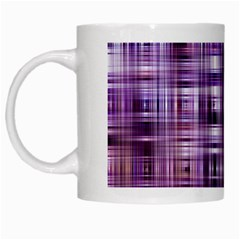 Purple Wave Abstract Background Shades Of Purple Tightly Woven White Mugs by Simbadda