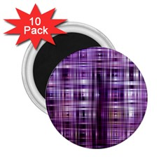 Purple Wave Abstract Background Shades Of Purple Tightly Woven 2 25  Magnets (10 Pack)  by Simbadda