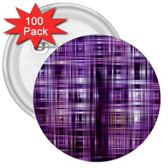 Purple Wave Abstract Background Shades Of Purple Tightly Woven 3  Buttons (100 Pack)  by Simbadda