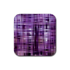 Purple Wave Abstract Background Shades Of Purple Tightly Woven Rubber Square Coaster (4 Pack)  by Simbadda
