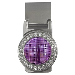 Purple Wave Abstract Background Shades Of Purple Tightly Woven Money Clips (cz)  by Simbadda