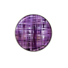 Purple Wave Abstract Background Shades Of Purple Tightly Woven Hat Clip Ball Marker by Simbadda