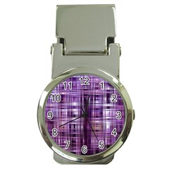 Purple Wave Abstract Background Shades Of Purple Tightly Woven Money Clip Watches by Simbadda
