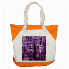 Purple Wave Abstract Background Shades Of Purple Tightly Woven Accent Tote Bag by Simbadda