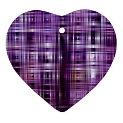 Purple Wave Abstract Background Shades Of Purple Tightly Woven Heart Ornament (two Sides) by Simbadda
