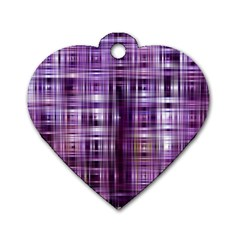 Purple Wave Abstract Background Shades Of Purple Tightly Woven Dog Tag Heart (two Sides) by Simbadda