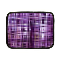 Purple Wave Abstract Background Shades Of Purple Tightly Woven Netbook Case (small)