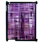 Purple Wave Abstract Background Shades Of Purple Tightly Woven Apple iPad 2 Case (Black) Front