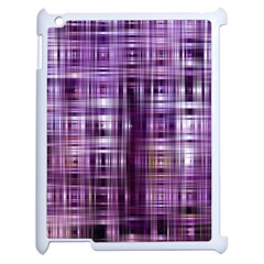 Purple Wave Abstract Background Shades Of Purple Tightly Woven Apple Ipad 2 Case (white) by Simbadda