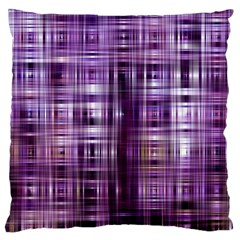 Purple Wave Abstract Background Shades Of Purple Tightly Woven Large Cushion Case (two Sides) by Simbadda