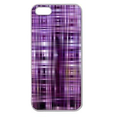 Purple Wave Abstract Background Shades Of Purple Tightly Woven Apple Seamless Iphone 5 Case (clear) by Simbadda