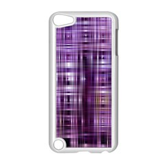 Purple Wave Abstract Background Shades Of Purple Tightly Woven Apple Ipod Touch 5 Case (white) by Simbadda