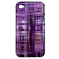 Purple Wave Abstract Background Shades Of Purple Tightly Woven Apple Iphone 4/4s Hardshell Case (pc+silicone) by Simbadda