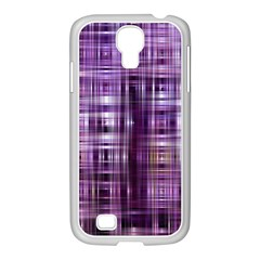 Purple Wave Abstract Background Shades Of Purple Tightly Woven Samsung Galaxy S4 I9500/ I9505 Case (white) by Simbadda