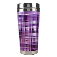 Purple Wave Abstract Background Shades Of Purple Tightly Woven Stainless Steel Travel Tumblers by Simbadda