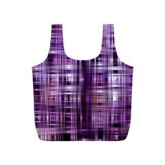 Purple Wave Abstract Background Shades Of Purple Tightly Woven Full Print Recycle Bags (s)  by Simbadda