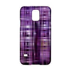 Purple Wave Abstract Background Shades Of Purple Tightly Woven Samsung Galaxy S5 Hardshell Case  by Simbadda