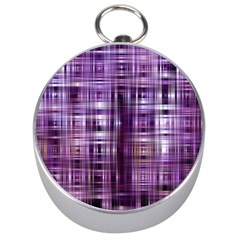 Purple Wave Abstract Background Shades Of Purple Tightly Woven Silver Compasses by Simbadda