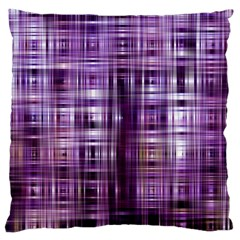 Purple Wave Abstract Background Shades Of Purple Tightly Woven Large Flano Cushion Case (one Side) by Simbadda