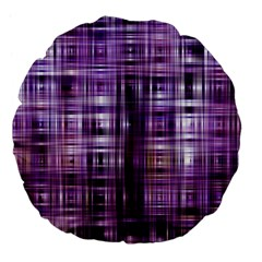 Purple Wave Abstract Background Shades Of Purple Tightly Woven Large 18  Premium Flano Round Cushions by Simbadda